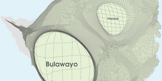 Zimbabwe Gridded Population Cartogram