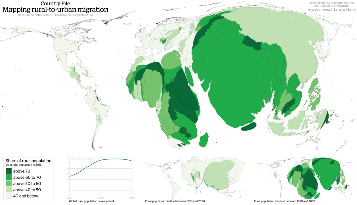 Country File Mapping ruraltourban migration Worldmapper