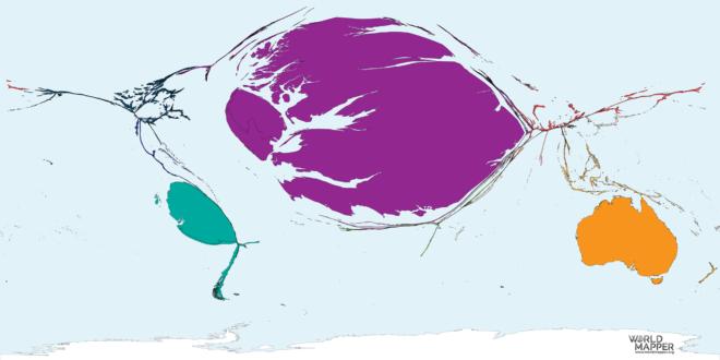 Migration from Falkland Islands 1990-2017