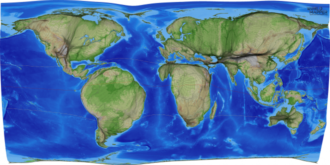 Global Treecover Gridded Cartogram