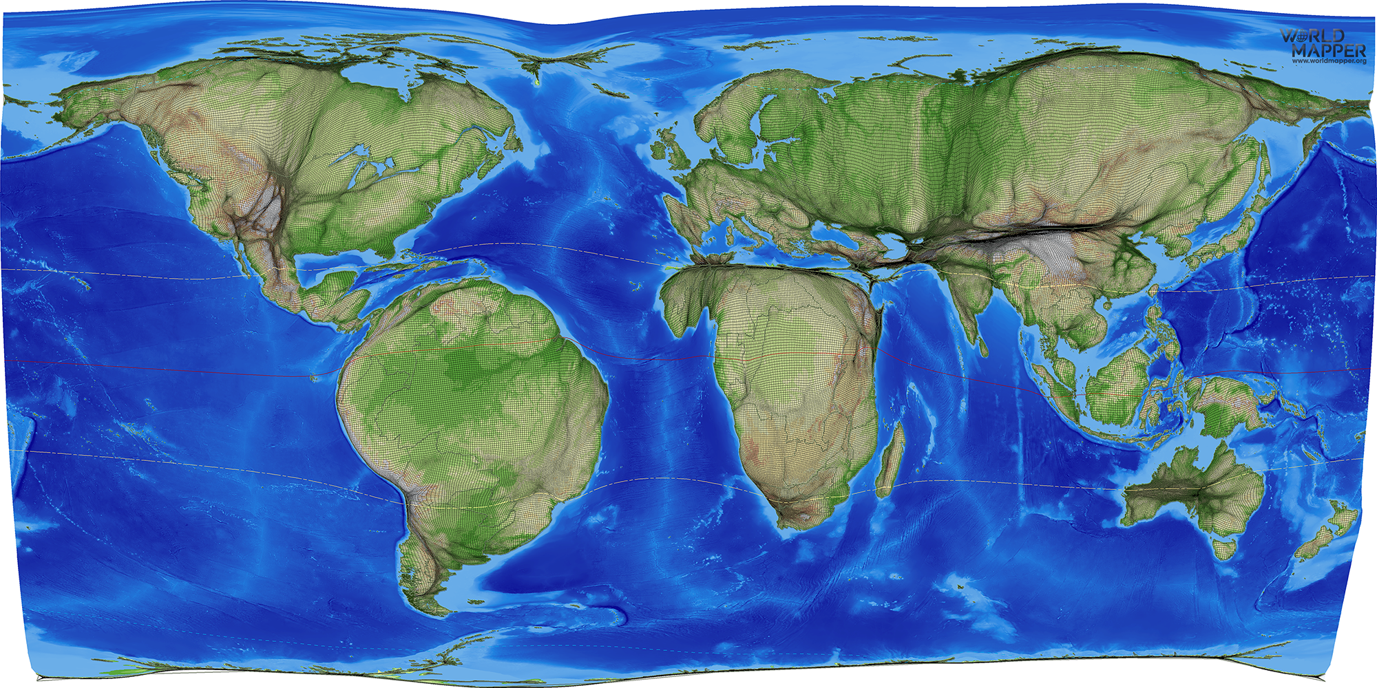 Map Of World Forests.Treecover Forests Worldmapper