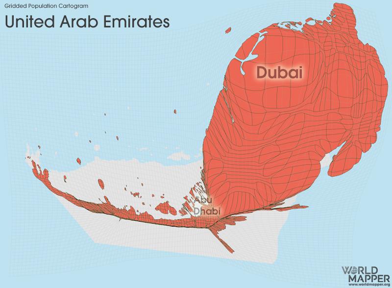 United Arab Emirates Gridded Potion | Worldmapper on abu dhabi, united emirates, map of uae and surrounding countries, map with states of uae, seven emirates, map in uae, burj khalifa, flag of uae emirates, united states of america, burj al-arab, map of uae cities, arabian emirates, dubai arab emirates, middle east, map abu dhabi uae, map eau, map of the uae, major products in uae emirates, saudi arabia, map showing deserts of uae, persian gulf, map with 7 emirates uae, ras al-khaimah, arabian peninsula,