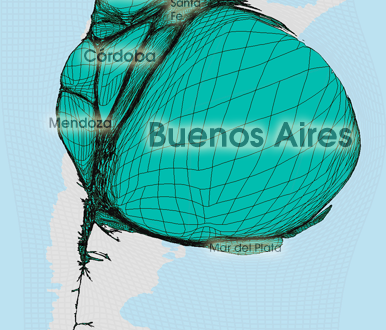 Gridded Population Cartogram Argentina