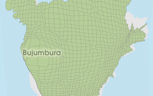 Gridded Population Cartogram Burundi