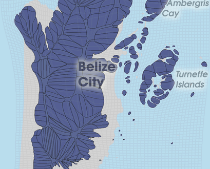 Gridded Population Cartogram Belize