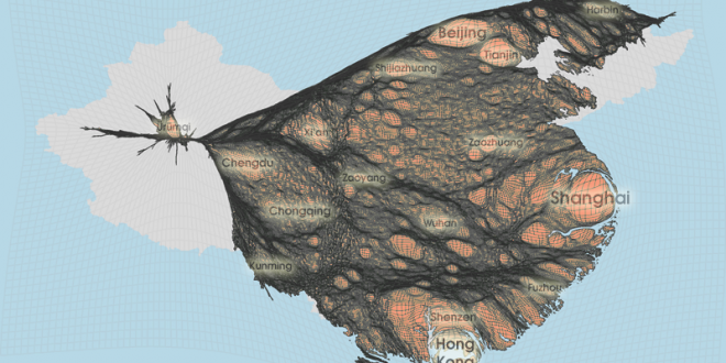 Gridded Population Cartogram China