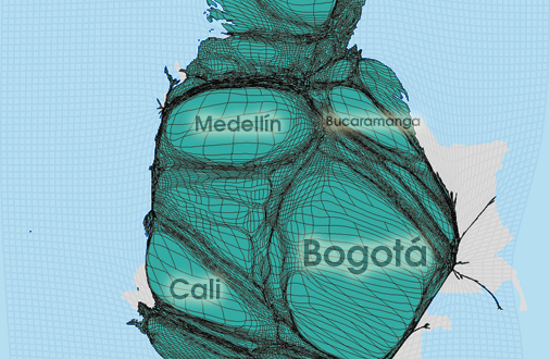 Gridded Population Cartogram Colombia
