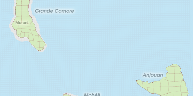 Gridded Population Cartogram Comoros