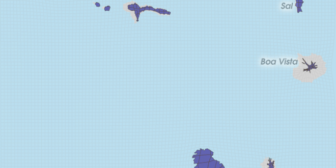 Gridded Population Cartogram Cape Verde