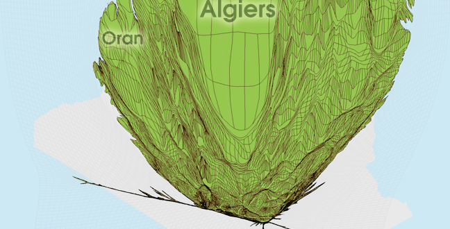 Gridded Population Cartogram Algeria