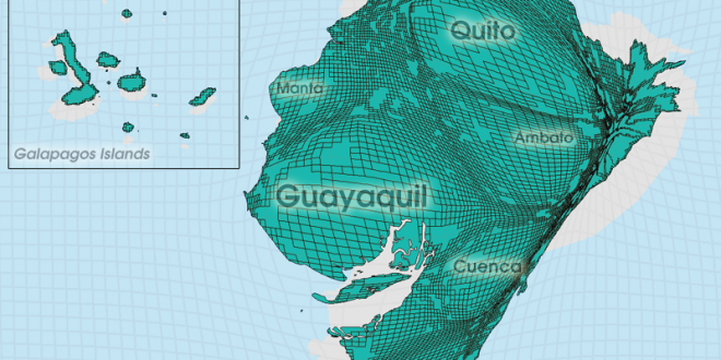 Gridded Population Cartogram Ecuador