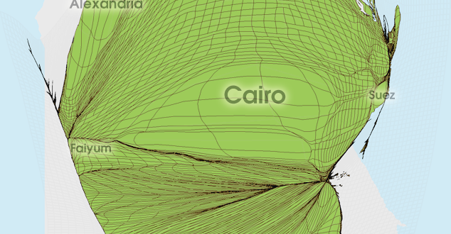 Gridded Population Cartogram Egypt