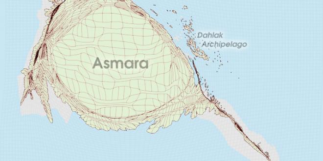 Gridded Population Cartogram Eritrea