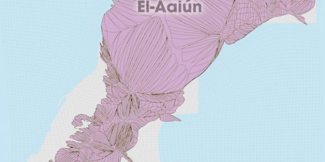 Gridded Population Cartogram Western Sahara