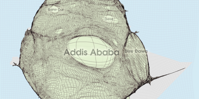 Gridded Population Cartogram Ethiopia
