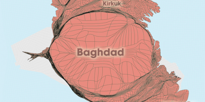 Gridded Population Cartogram Iraq