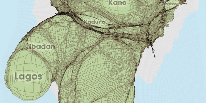 Gridded Population Cartogram Nigeria