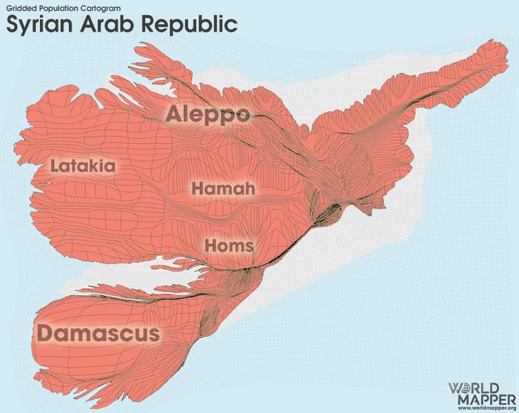 Syria Gridded Population | Worldmapper