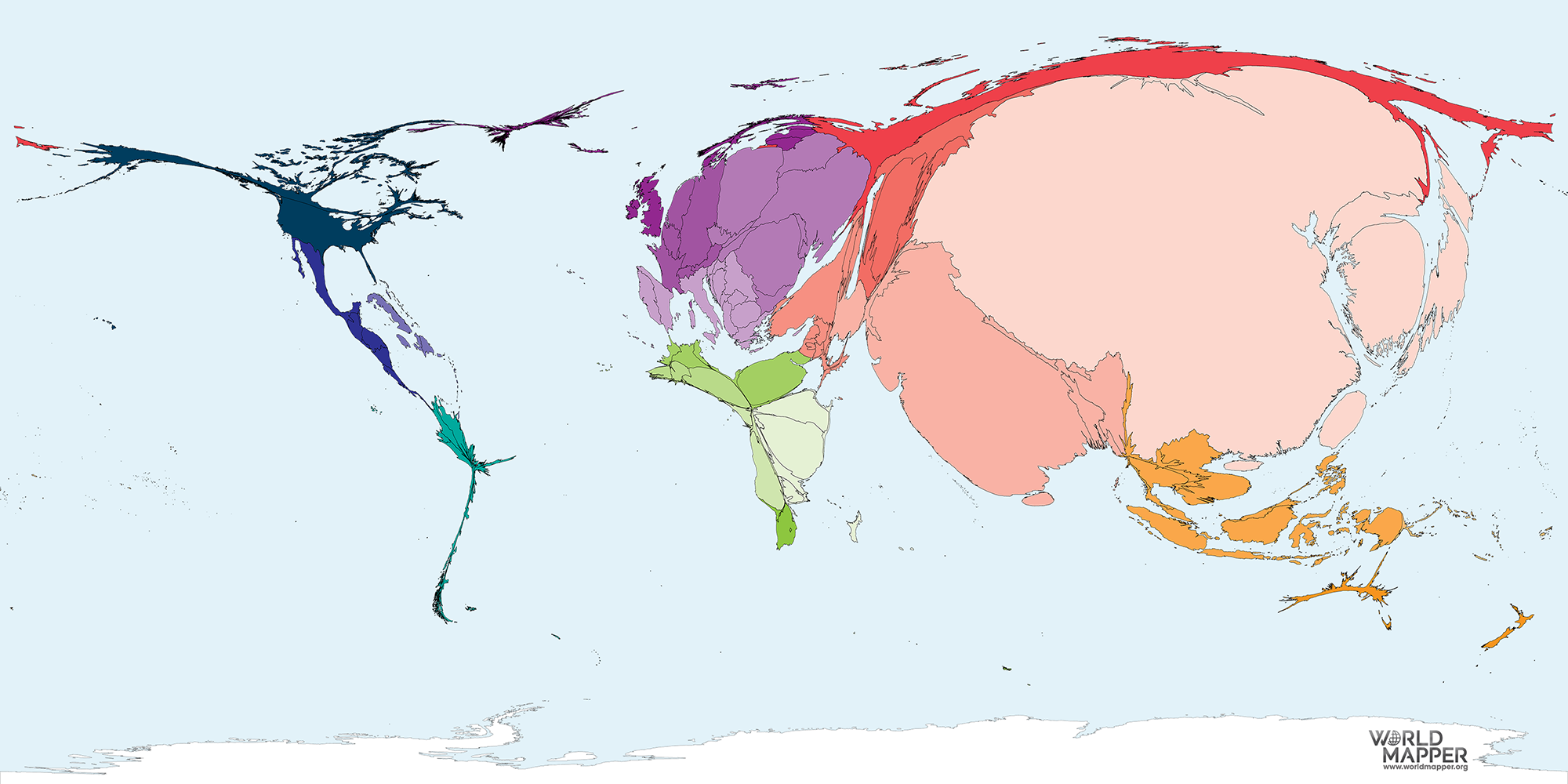 Cabbage Production Worldmapper