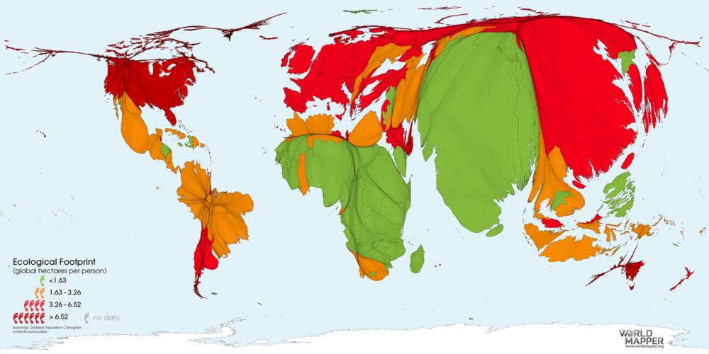 Ecological Footprint per Capita 2019