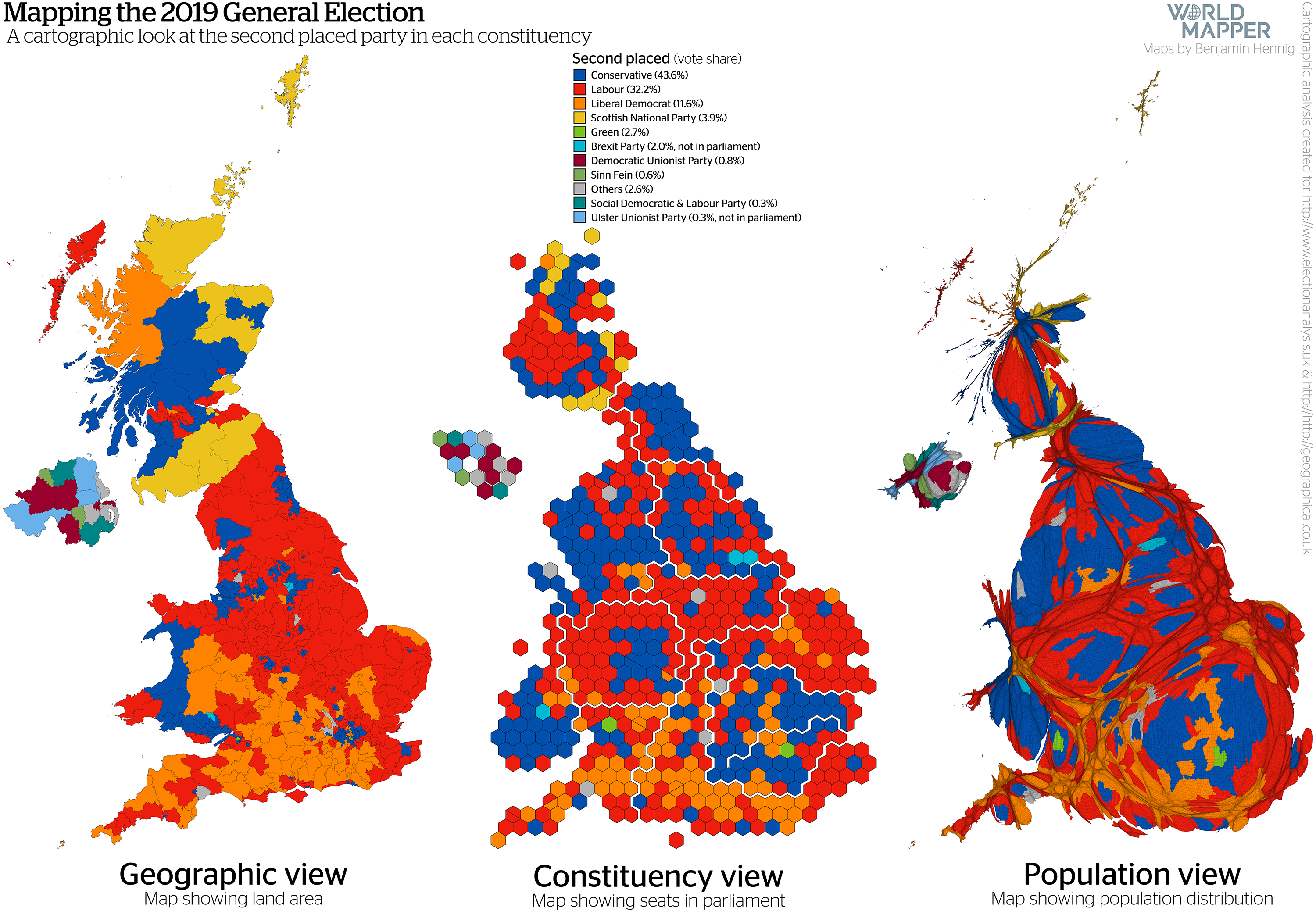 Picture of: Cartographic Views Of The 2019 General Election Worldmapper