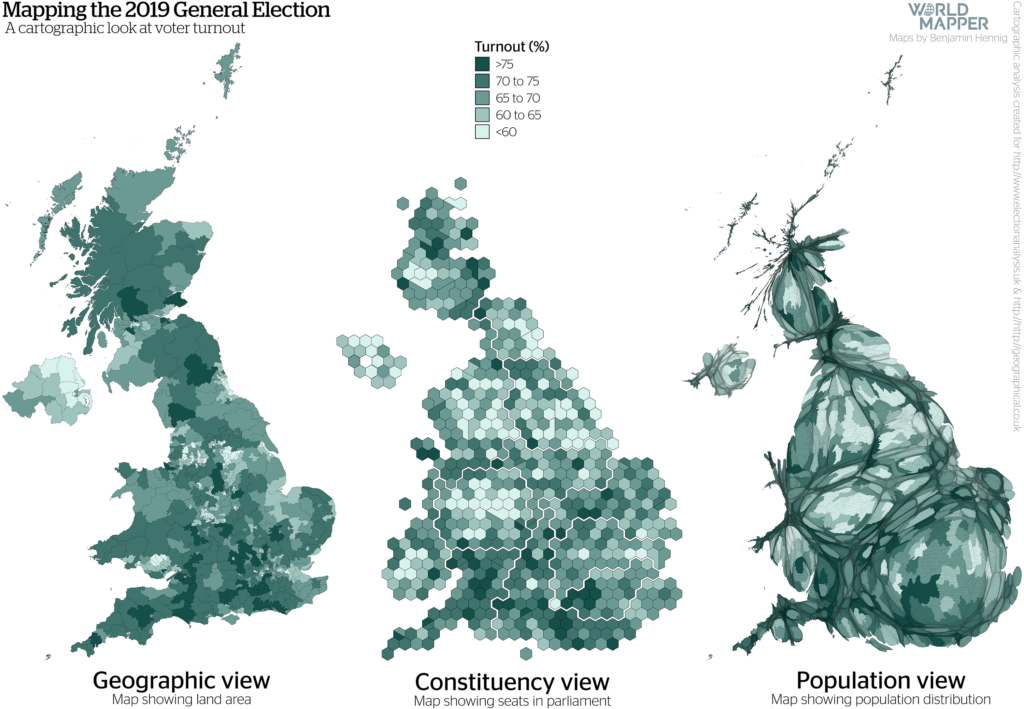 UK General Election Results 2019: Turnout