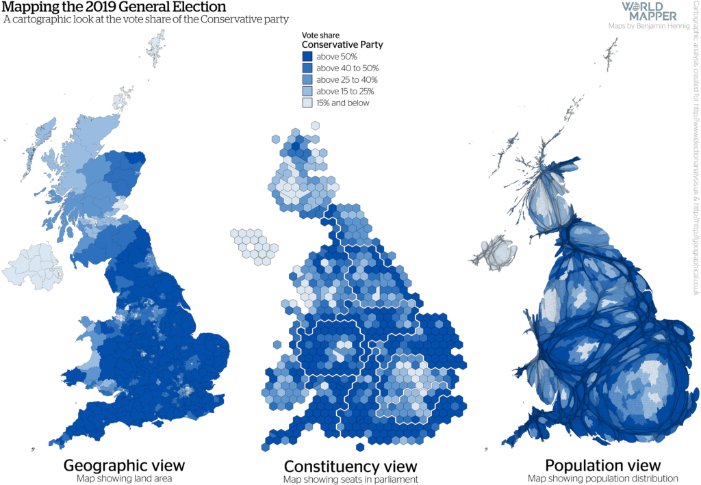 UK General Election Results 2019: Conservative vote share