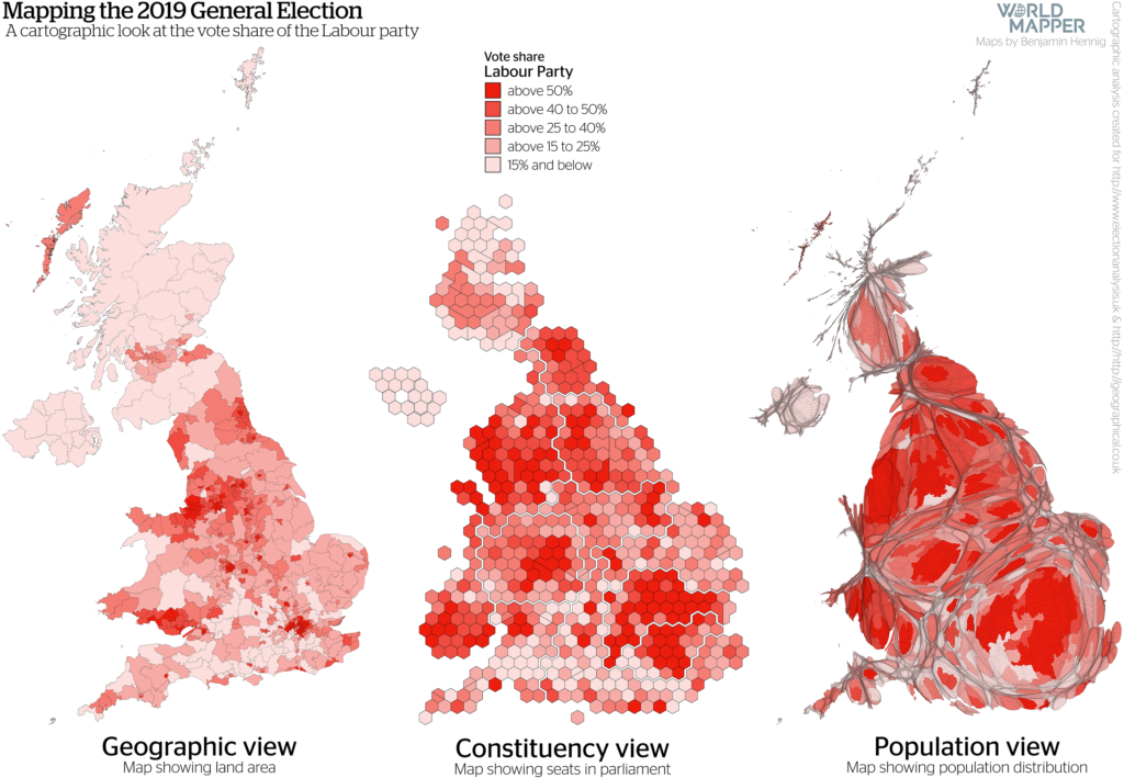 UK General Election Results 2019: Labour vote share