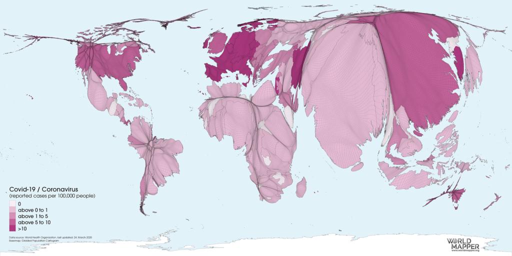 Covid-19/Coronavirus cases (per 100,000 people)